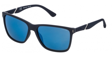 Sunglasses - Police - SPL529 SPEED 10 - 92EB RUBBER DARK BLUE // GREY MIRROR BLUE