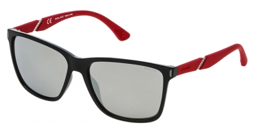 Sunglasses - Police - SPL529 SPEED 10 - Z42X BLACK RED // GREY SILVER MIRROR