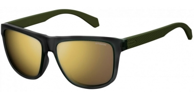 Gafas de Sol - Polaroid - PLD 2057/S - DLD (LM) MATTE GREEN MILITARY // GREY GOLD MIRROR POLARIZED