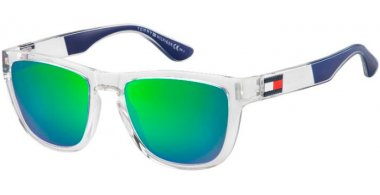 Sunglasses - Tommy Hilfiger - TH 1557/S - 0OX (Z9) CRYSTAL BLUE // GREEN MULTILAYER