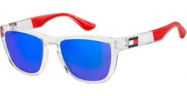 Sunglasses - Tommy Hilfiger - TH 1557/S - QM4 (Z0) CRYSTAL RED // BLUE MULTILAYER