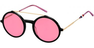 Sunglasses - Tommy Hilfiger - TH 1644/S - 26S (U1) BLACK GOLD COPPER // PINK