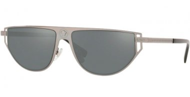 Sunglasses - Versace - VE2213 - 10016G GUNMETAL // GREY SILVER MIRROR