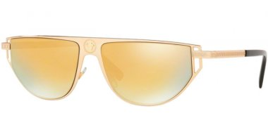 Sunglasses - Versace - VE2213 - 10027P GOLD // BROWN GOLD MIRROR