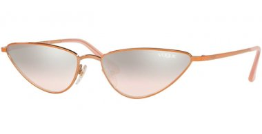 Sunglasses - Vogue - VO4138S LA FAYETTE - 50758Z ROSE GOLD // LIGHT BROWN MIRROR SILVER GRADIENT