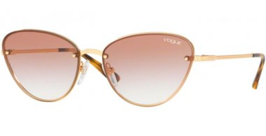 Sunglasses - Vogue - VO4111S - 280/13 GOLD // CLEAR GRADIENT BROWN