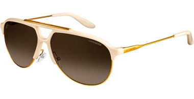 Sunglasses - Carrera - CARRERA 83 - 0SD (DB)  IVORY ANTIQUE GOLD // BROWN GREY GRADIENT