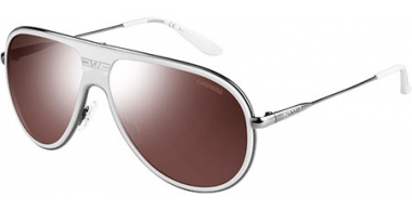 Sunglasses - Carrera - CARRERA 87/S - N1Y (8G) WHITE DARK RUTHENIUM // BROWN SILVER MIRROR