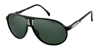 Sunglasses - Carrera - CHAMPION/HI - D28 (79) SHINY BLACK // GREY GREEN TEMPERED CRYSTAL