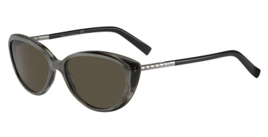 Sunglasses - Dior - DIORPICCADILLY - XM0 (70) HORN GREY BLACK // BROWN