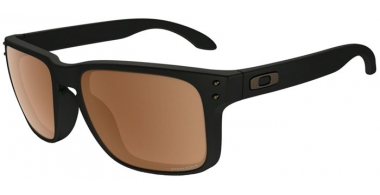 Sunglasses - Oakley - HOLBROOK OO9102 - 9102-D7 MATTE BLACK // PRIZM TUNGSTEN POLARIZED
