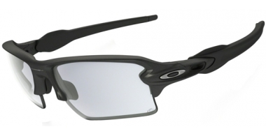 Gafas de Sol - Oakley - FLAK 2.0 XL OO9188 - 9188-16 STEEL GREY // CLEAR BLACK PHOTOCHROMIC