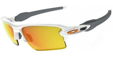 Gafas de Sol - Oakley - FLAK 2.0 XL OO9188 - 9188-19 POLISHED WHITE // FIRE IRIDIUM