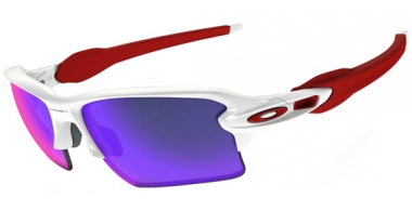 Gafas de Sol - Oakley - FLAK 2.0 XL OO9188 - 9188-21 POLISHED WHITE // POSITIVE RED IRIDIUM