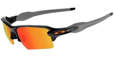 Gafas de Sol - Oakley - FLAK 2.0 XL OO9188 - 9188-22 POLISHED BLACK // FIRE IRIDIUM