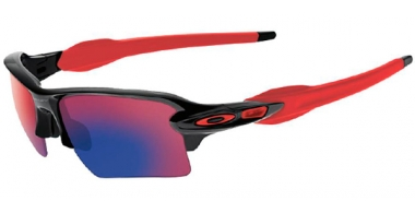 Gafas de Sol - Oakley - FLAK 2.0 XL OO9188 - 9188-24 POLISHED BLACK // POSITIVE RED IRIDIUM