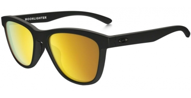 Gafas de Sol - Oakley - MOONLIGHTER OO9320 - 9320-10 MATTE BLACK // 24K IRIDIUM POLARIZED