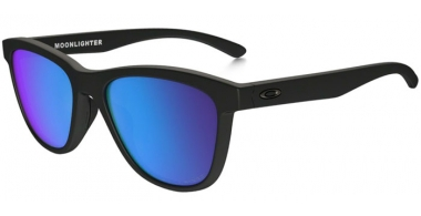 Gafas de Sol - Oakley - MOONLIGHTER OO9320 - 9320-11 MATTE BLACK // SAPPHIRE IRIDIUM POLARIZED