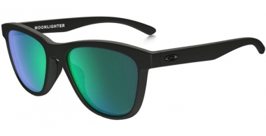 Gafas de Sol - Oakley - MOONLIGHTER OO9320 - 9320-12 MATTE BLACK // JADE IRIDIUM POLARIZED