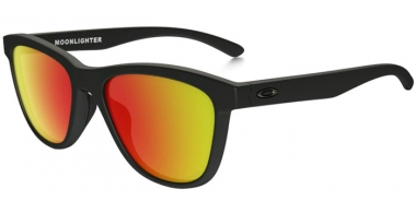 Gafas de Sol - Oakley - MOONLIGHTER OO9320 - 9320-13 MATTE BLACK // RUBY IRIDIUM POLARIZED