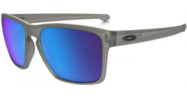 Sunglasses - Oakley - SLIVER XL OO9341 - 9341-03 MATTE GREY INK // SAPPHIRE IRIDUM POLARIZED