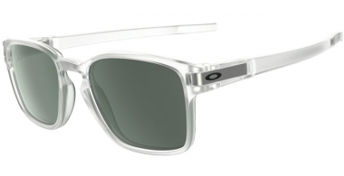 Sunglasses - Oakley - LATCH SQUARED OO9353 - 9353-07 MATTE CLEAR // DARK GREY