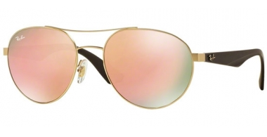 Sunglasses - Ray-Ban® - Ray-Ban® RB3536 - 112/2Y MATTE GOLD // LIGHT BROWN MIRROR PINK
