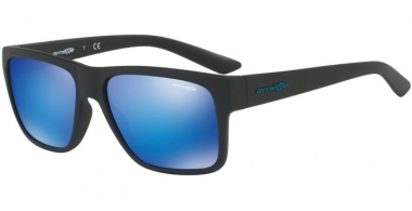 Sunglasses - Arnette - AN4226 RESERVE - 01/25 MATTE BLACK // GREEN MIRROR LIGHT BLUE