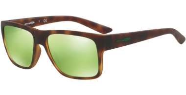 Sunglasses - Arnette - AN4226 RESERVE - 21528N HAVANA RUBBER // LIGHT GREEN MIRROR GREEN