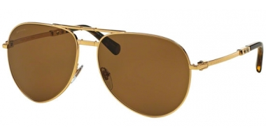 Sunglasses - Bvlgari - BV5034K FOLDING - 393/83 GOLD PLATED // BROWN POLARIZED