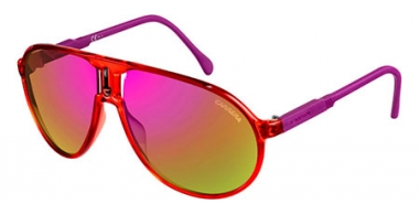 Sunglasses - Carrera - CHAMPION/RUBBER - 4OO (E2) CRYSTAL CYCLAMEN // PINK VIOLET GOLD MIRROR