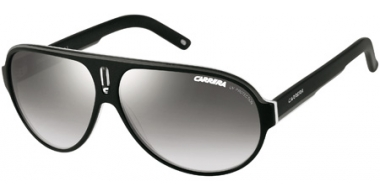 Gafas de Sol - Carrera - CARRERA 25 - WZF (IC) BLACK WHITE GREY // GREY GRADIENT MIRROR SILVER