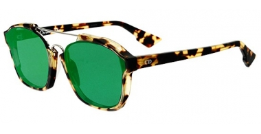 Gafas de Sol - Dior - DIORABSTRACT - 00F (9S) SPOTTED DARK HAVANA // GREEN MIRROR