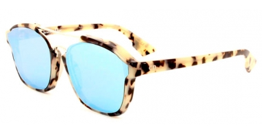 Gafas de Sol - Dior - DIORABSTRACT - A4E (A4) SPOTTED HAVANA // LIGHT BLUE MIRROR