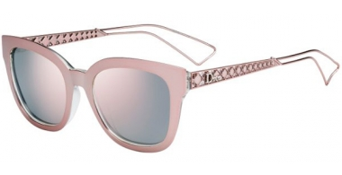 Sunglasses - Dior - DIORAMA1 - TGW (0J) PINK CRYSTAL // GREY ROSE GOLD MIRROR