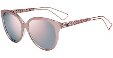Sunglasses - Dior - DIORAMA2 - TGW (0J) PINK CRYSTAL // GREY ROSE GOLD MIRROR