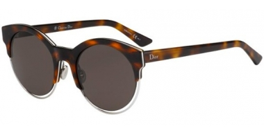Sunglasses - Dior - DIORSIDERAL1 - J6A (NR) HAVANA PALLADIUM // BROWN GREY