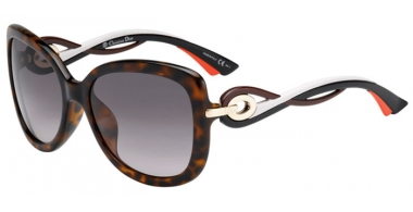 Gafas de Sol - Dior - DIORTWISTING - JXH  (EU)  HAVANA BROWN BLACK ORANGE // GREY GRADIENT