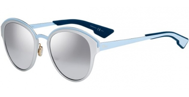 Gafas de Sol - Dior - DIORSUN - RCV (96)  METAL SILVER BLUE // LIGHT GREY SILVER MIRROR GRADIENT