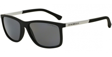 Sunglasses - Emporio Armani - EA4058 - 506381 BLACK RUBBER // GREY POLARIZED