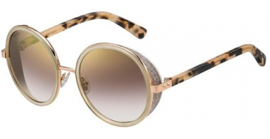Sunglasses - Jimmy Choo - ANDIE/S - J7A (NH) GOLD NUDE HAVANA // BROWN GRADIENT MIRROR GOLD