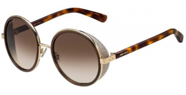 Sunglasses - Jimmy Choo - ANDIE/S - J7G (JD) GOLD BROWN HAVANA // BROWN GRADIENT