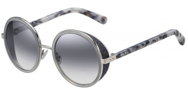 Sunglasses - Jimmy Choo - ANDIE/S - J7L (IC) PALLADIUM GREY HAVANA // GREY GRADIENT MIRROR SILVER