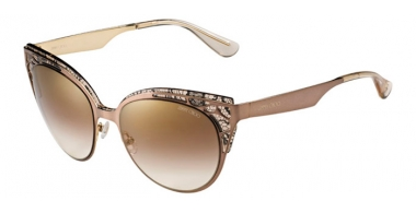 Sunglasses - Jimmy Choo - ESTELLE/S - ENZ (QH) BROWN ROSE NUDE GOLD // BROWN MIRROR GOLD GRADIENT