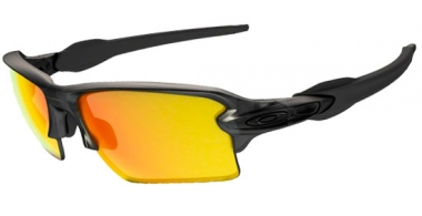 Gafas de Sol - Oakley - FLAK 2.0 XL OO9188 - 9188-10 MATTE GREY SMOKE // FIRE  IRIDIUM POLARIZED