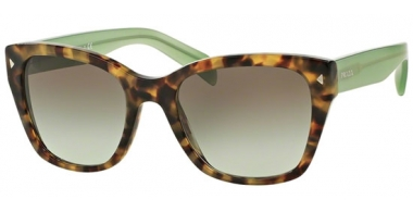 Sunglasses - Prada - SPR 09SS - UEZ4K1 SPOTTED BROWN GREEN // GREEN GRADIENT GREY
