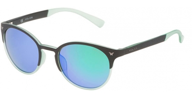 Sunglasses - Police - SPL162 GAME 6 - 6PCV BLACK // GREEN MULTILAYER GREEN