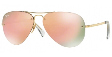 Gafas de Sol - Ray-Ban® - Ray-Ban® RB3449 - 001/2Y GOLD // COPPER MIRROR