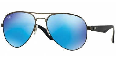 Gafas de Sol - Ray-Ban® - Ray-Ban® RB3523 - 029/55 MATTE GUNMETAL // LIGHT GREEN MIRROR BLUE