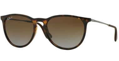 Sunglasses - Ray-Ban® - Ray-Ban® RB4171 ERIKA - 710/T5 HAVANA // BROWN GRADIENT POLARIZED